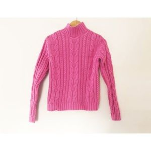 Chaps | Vintage 1990's Pink Turtleneck Sweater